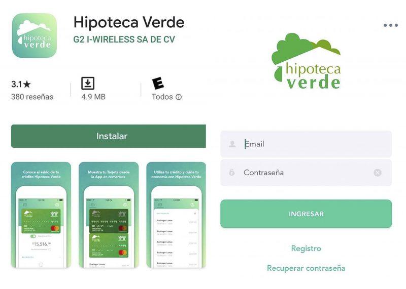 Como descargar la aplicación de Hipoteca Verde